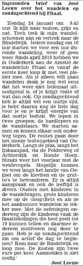 Weekblad voor Ouder-Amstel 27-1-2016